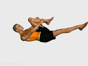 The one leg strech. Pilates routine recommended for :  beginners,  intermediate,  experts.